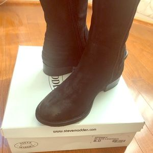 Steve Madden Spinney Leather Boots - like new!